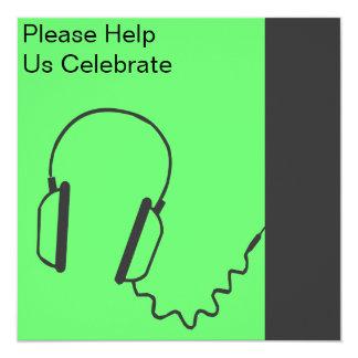 Headphones Invitation