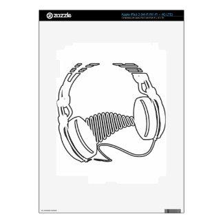 Headphones iPad 3 Decal