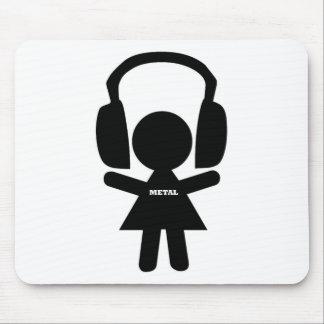 Headphones Jamming Metal Music Mouse Pad