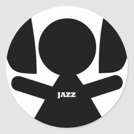 Headphones Jazz Music Classic Round Sticker