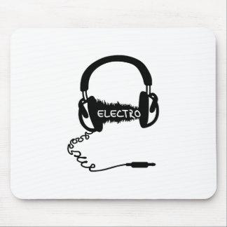 Headphones Kopfhörer Audio Wave Electro Elektro Mu Mouse Pad