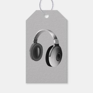 HEADPHONES (LIGHT GRAY DESIGN) GIFT TAGS