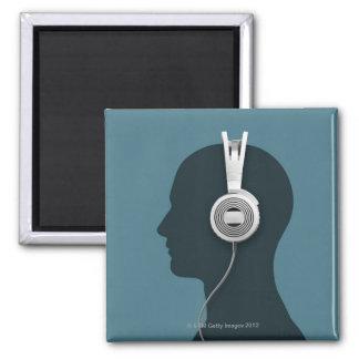 Headphones Fridge Magnets