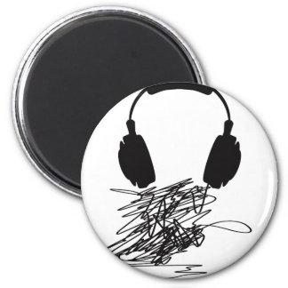 Headphones Refrigerator Magnet