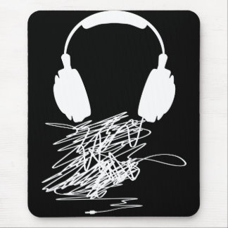 Headphones Mouse Pad