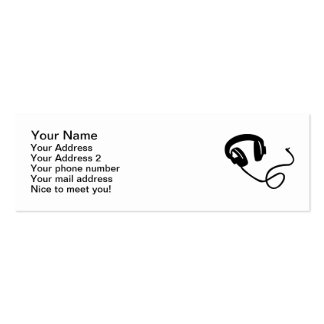 Headphones music Double-Sided mini business cards (Pack of 20)