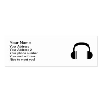 Headphones music DJ Double-Sided Mini Business Cards (Pack Of 20)