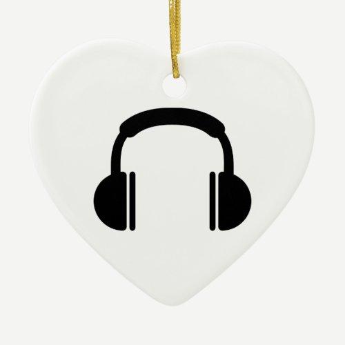 Headphones music DJ Ceramic Ornament