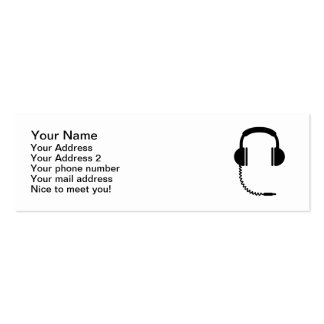 Headphones music sound Double-Sided mini business cards (Pack of 20)