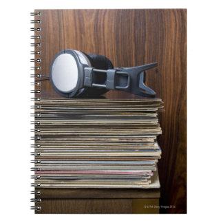 Headphones on Records Notebook