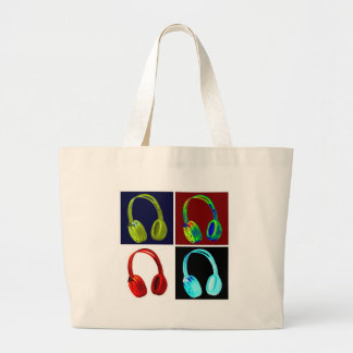 Headphones Pop Art Canvas Bag