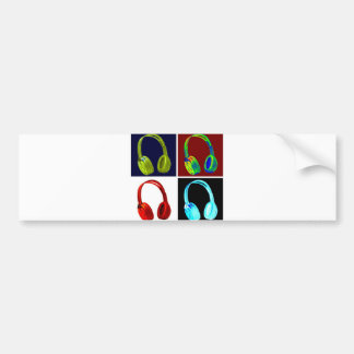 Headphones Pop Art Car Bumper Sticker