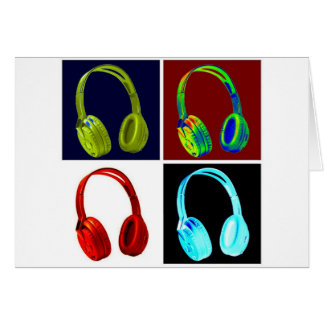 Headphones Pop Art Card