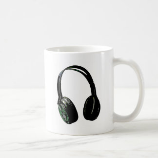 Headphones Pop Art Classic White Coffee Mug