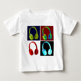 Headphones Pop Art Tee Shirt