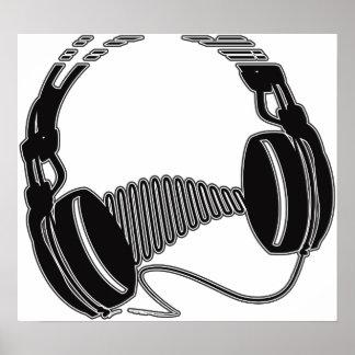 Headphones Posters | Zazzle