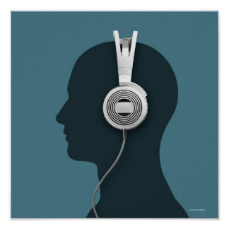 Headphones Art & Framed Artwork | Zazzle