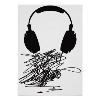Headphones Posters | Zazzle