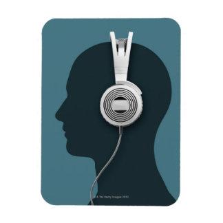 Headphones Rectangle Magnet