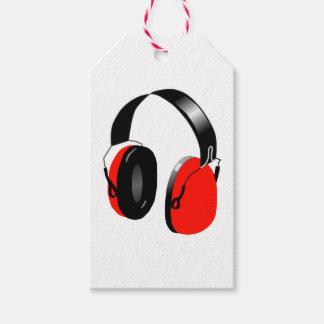 HEADPHONES (RED) Custom Gift Tags