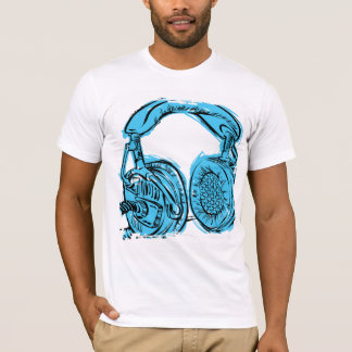 Headphones Sketchbook T-Shirt