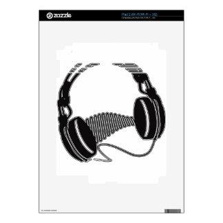 Headphones Skins For The iPad 2