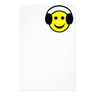 Headphones Smiley Stationery