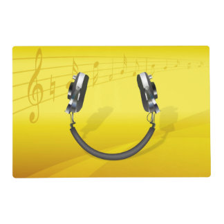 Headphones Smiling Placemat