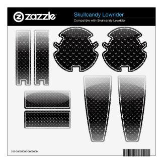 Headphones & Speakers Skin glossy metal grid Decals For Skullcandy