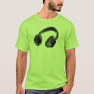 Headphones. T-Shirt