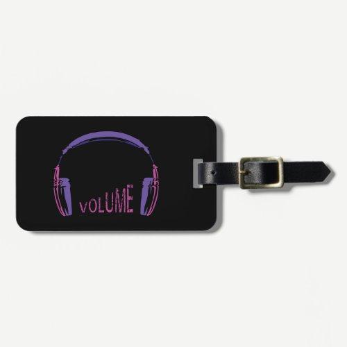 Headphones Volume up Luggage Tag