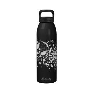Headphones Reusable Water Bottle