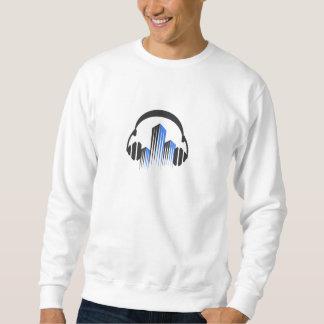 Headphones with Frequency-Equalizer DJ Music Sound Sweatshirt