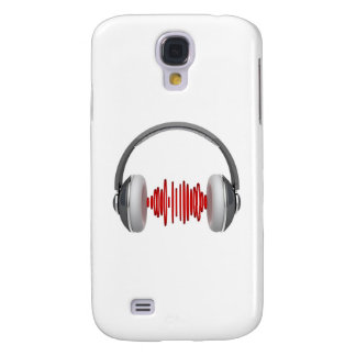 Headphones with sound waves galaxy s4 cover