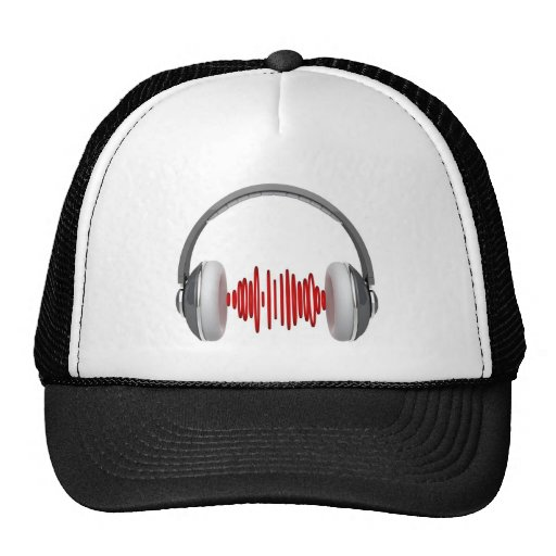 Headphones with sound waves hat