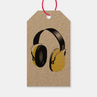 HEADPHONES (YELLOW) Custom Gift Tags