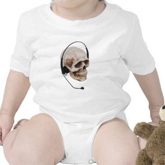 HeadphoneSkull042109 Baby Bodysuits