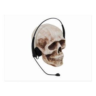 HeadphoneSkull042109 Postcard