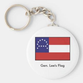 Headquarters Flag de general Lee Llavero Redondo Tipo Pin