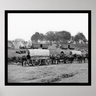 Headquarters of General McClellan 1862 Poster