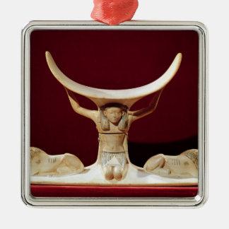 Headrest with Shu, the Egyptian God of the Air Ornament