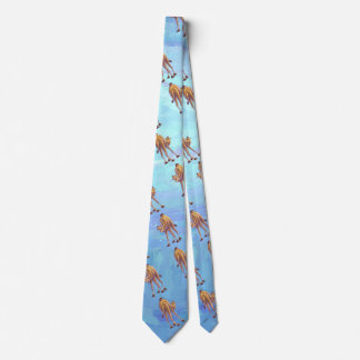 Heads and Tails Camel Pattern on Blue Neck Tie