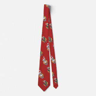 Heads and Tails Ginger Cat Christmas Neck Tie