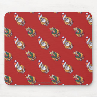 Heads and Tails Ginger Cat Christmas Pattern Mouse Pad