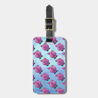 Heads and Tails Pig Pattern Bag Tag