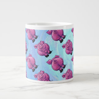 Heads and Tails Pig Pattern Large Coffee Mug