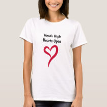 Heads High Hearts Open T-Shirt