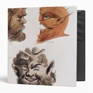 Heads of Evil Demons 3 Ring Binders