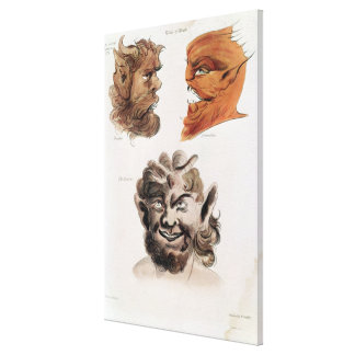 Heads of Evil Demons Canvas Print