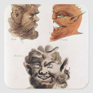 Heads of Evil Demons Square Sticker